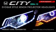 Honda city ivtec Projector Headlamp Provides more downroad visibility. These headlight has also been designed for maximum durability.- BUY NOW FROM AUTOGLAM. Projector Headlights, Car Headlights, Hidden Projector, Honda City, Car Lights, Car Accessories, Coding, Dark, Store