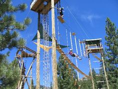Ropes Course in Squaw Valley, Lake Tahoe. Teambuilding Activities. | Squaw Valley Adventure Center