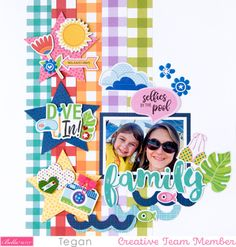 Scrapbooking Layouts, Scrapbook Cards, The Last Star, Splash Zone, Sweet Home Collection, Striped Background, Photoshop Elements, Creative Studio, Pattern Paper