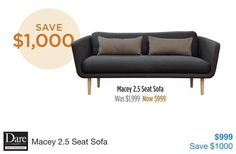 This 2.5 seat #sofa #halfprice at Dare Gallery #onsale until 30/6/16 #lounge #furniture #daregallery @daregallery #reduced #discounted #whypayfullprice #savvysaver #livingroom #apr16 #may16 #jun16