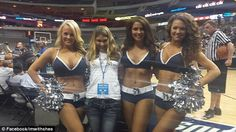 Dallas Mavs cheerleaders supporting special needs girl tormented by bullies