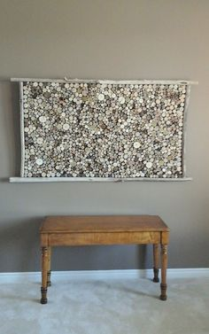 Beautiful  ......  Large Driftwood Slice Hanging Art Wall Hanging by DriftingConcepts