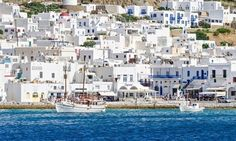 The whitewashed buildings of Mykonos town, favourite of the 60s jet set and now back in fashion with