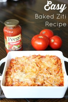 Tips for Planning the Perfect Back to School Dinner :: This Easy Baked Ziti Recipe is delicious and easy when you use Prego Traditional Italian Sauce! It is a perfect meal for back to school dinners! Easy Baked Ziti, Baked Ziti With Ricotta, Baked Ziti With Chicken, Freezer Baked Ziti, Baked Rigatoni, Ziti Al Horno, Easy Dinner Recipes, Easy Meals, Cooking Recipes
