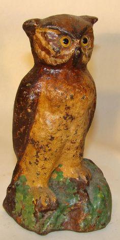 cast iron vintage owl antique