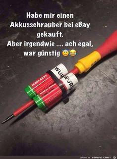 lustiges Bild 'Mein neuer Akkuschrauber von Ebay.jpg'- Eine von 23896 Dateien in der Kategorie 'witzige Bilder' auf FUNPOT.
