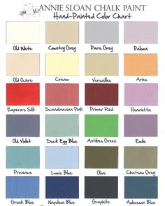 Annie Sloan Chalk Paint Furniture | Chalk Paint Color Chart