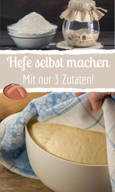 Make yeast yourself - with only 3 ingredients! - Make yeast yourself – with only 3 ingredients! So you always have fresh (and homemade) yeast in t - Breakfast Toast, Breakfast Recipes, Homemade Pancakes, Belgian Waffles, Morning Food, Recipe Collection, 3 Ingredients, Ricotta, Food And Drink