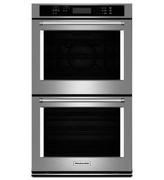 "KitchenAid® 30"" Double Wall Oven with Even-Heat™ True Convection (Upper Oven)"