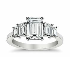 Emerald Cut Diamond Ring from Blue Nile