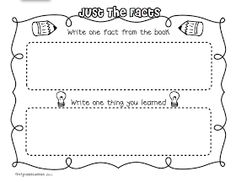 First Grade Blue Skies: Common Core Expository Writing Pack & Freebie