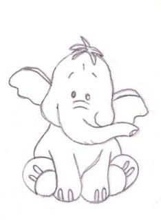 baby elephant to print