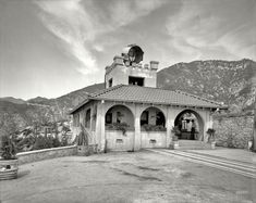 "Mount Lowe, California, circa 1913. ""Powerhouse and incline station, Mount Lowe Railway.""    via http://www.shorpy.com/node?page=5"