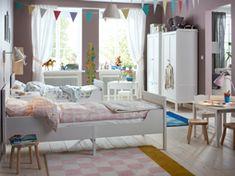 grandir cote a cote chambre rose et blanc ikea chambre enfant maison