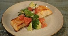 Easy Broiled Salmon with Avocado Grapefruit Salsa CLINTON KELLY