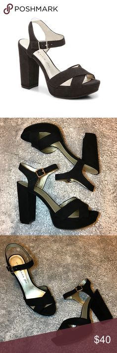 26ffd0667efd Anne Klein Lalima Sandal Faux suede platform heels from Anne Klein! Only  worn once and