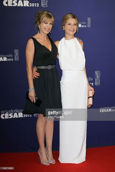 Actress Karin Viard (L) and actress Marina Fois (R) attend the 37th Cesar Film Awards at Theatre du Chatelet on February 24, 2012 in Paris, France.