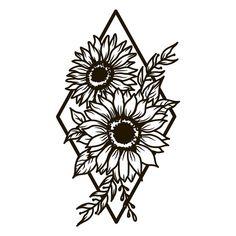 Cover Up Tattoos, Body Art Tattoos, Tatoos, Tattoo Studio, Sunflower Tattoos, Sunflower Drawing, Piercing, Henna, Sign Stencils