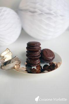 Schokoladen-Macarons mit Zartbitter-Ganache