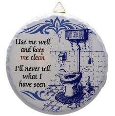 Ceramic Tile Plaque: Bathroom – DutchNovelties