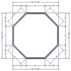 An octagonal structure such as a gazebo can easily be created by using the Polygon Shaped Deck tool. Gazebo Roof, Diy Gazebo, Gazebo Plans, The Plan, How To Plan, Casa Octagonal, Hexagon Gazebo, Woodworking Plans, Woodworking Projects
