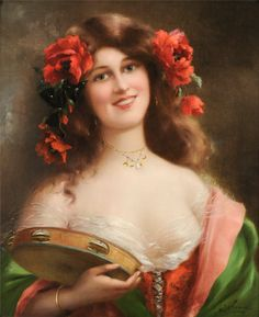 Painting by Emile Vernon. Esmeralda from Notre Dame of Paris?
