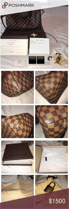 Louis vuitton Speedy B 30 w/Everything included! Speedy Bandouliere 30! Like new and only used 3 times. I carry less and don't need a big bag. Never reach for it so hopefully it goes to someone who will enjoy it. All original packaging included. Box, tissue paper with Lv sticker, dust bag, leather cord with card, all original paperwork and tag. Also with extra envelope and blank card to use as a gift. Lock and 2 keys with pouch. 3 piece strap. Clean smoke/pet free home. NO TRADES. Not going…