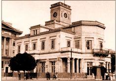 Το ρολόι ή Χρηματιστήριο του Πειραιά.(1873-1968). Σχέδιο του αντισυνταγματάρχη Γ. Μεταξά.