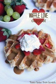 Waffle Love Copycat Recipe--These Liege Waffles are the BEST waffles ever! Waffle Love Copycat Recipe, Waffle Recipes, Copycat Recipes, What's For Breakfast, Breakfast Recipes, Dessert Recipes, Breakfast Waffles, Dessert Ideas, Yummy Treats