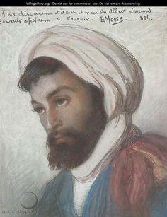 Portrait of an Algerian Jew - Edouard Moyse