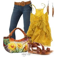 Beauty of Sunflowers (sketched feathers cami $70)