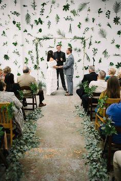 plant wall modern brewery industrial wedding 7 locks brewing the kama photography