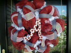 Alabama wreath.. that is too cute!