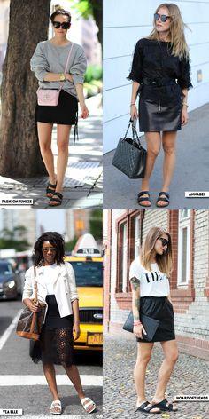 How to wear | Skirt + Birkenstock