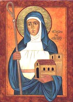 St. Hilda of Whitby  (Feast day: November 19) She was the founding abbess of the monastery at Whitby, which was chosen as the venue for the Synod of Whitby. An important figure in the conversion of England to Christianity, she was abbess at several monasteries and recognized for the wisdom that drew kings to her for advice.
