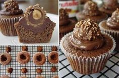 Creative Ideas - DIY Delicious Nutella Ferrero Rocher Cupcakes