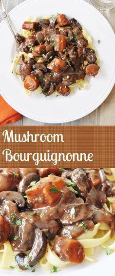 Vegan Mushroom Bourguignonne