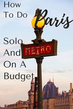 Paris is a great place to travel as a solo travelers ... AND it can be done on a budget. You just have to plan and be smart about it!! Here are some tips on how to do both!! #travel #france #paris #travelparis #travelfrance #europetravel #budgettravel #solotravel #wanderyourway