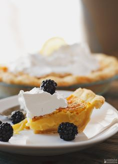 Passion Fruit and Lemon Chess Pie
