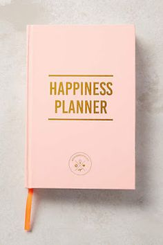Pastel pink happiness planner