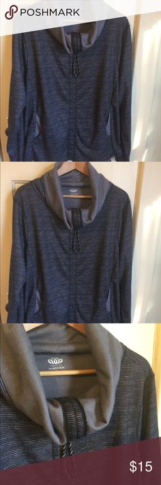 """💙NWOT Maurices cowl neck pullover New without tags!                                  *Lightweight  fabric * Hooded with adjustable tie and cowl neck * Functional front pockets                                         * 26"""" across and 28"""" long Maurices Tops Sweatshirts & Hoodies"""