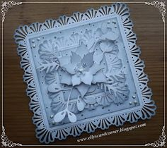 Elly's Card Corner: Monchromatic Poinsettia Christmas Card.