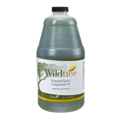 Roasted Garlic Grapeseed Oil (large Plastic) by Wildtree  Love this on salads and on meats before cooking.