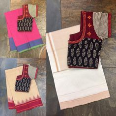 Come by the store and we ll help you mix and match! For online orders/enquiries please email us at or whatsapp us at 9108558485 houseoftaamara handlooms sarees blouses cottons summer organic sustainablefashion minimal 28 March 2017 Cotton Saree Blouse Designs, Blouse Back Neck Designs, Fancy Blouse Designs, Saree Blouse Patterns, Kurta Designs, Boutique, Sarees, Indian, Boat Neck