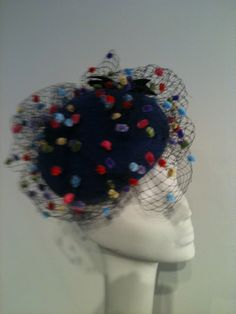 dotty veiling on royal blue felt beret Beret, Royal Blue, Beanie, Hats, Fashion, Moda, Berets, Hat, Fashion Styles