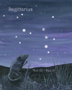Mouse reaching for the Stars - Sagittarius by bluewolfart on Etsy