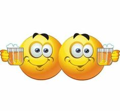 Image result for toasting a beer smiley