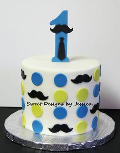 Mustache cake for 1st birthday