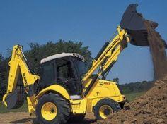 New Holland Construção - Retroescavadeiras LB110 - O resultado é uma retroescavadeira confortável, robusta, segura, de fácil operação e com grande força de escavação e elevação