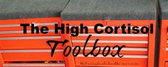 The Transplanted Southerner: The High Cortisol Toolbox. How I keep my high cortisol levels balanced. High Cortisol, Adrenal Fatigue, Toolbox, Health And Wellbeing, Learning, Tool Box, Studying, Teaching, Onderwijs